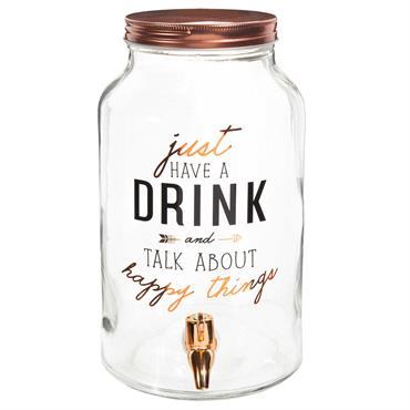 Fontaine à boisson en verre à motifs