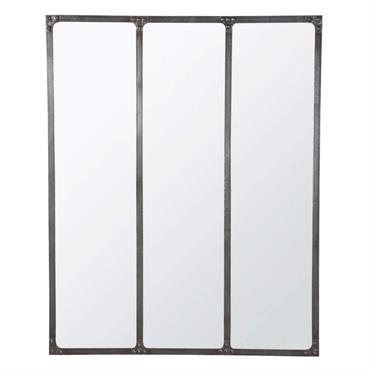 Miroir en métal effet vieilli 95x120