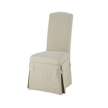 Housse longue de chaise en lin Alice