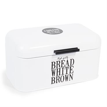 Boîte à pain en métal blanche WALLACE