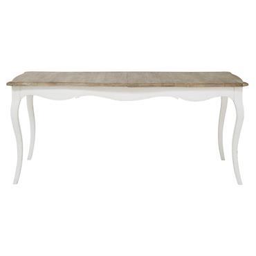 Classique et élégante, cette table à manger en manguier blanc VERSAILLES participera à vos plus belles réceptions en famille ou entre amis. Pratique, cette table à dîner possède une rallonge ...