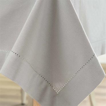 Nappe unie en coton grise 150 x 250 cm