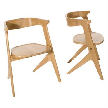 Chaise empilable Slab / Bois - Tom Dixon Naturel en Bois