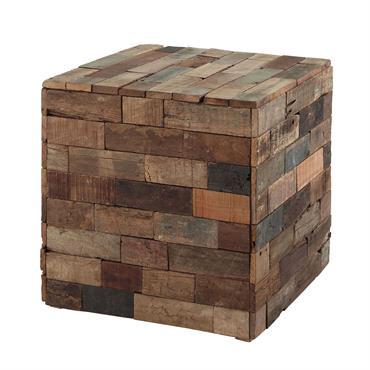 Le bout de canapé en bois PRAJA est une pièce de décoration qu'on remarquera tout de suite dans votre salon ! Le détail déco : de fabrication artisanale, il est ...