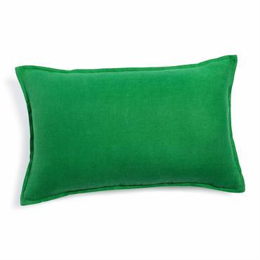 Coussin en lin lavé vert 30 x 50 cm