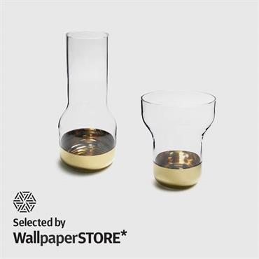 Vases avec socle or