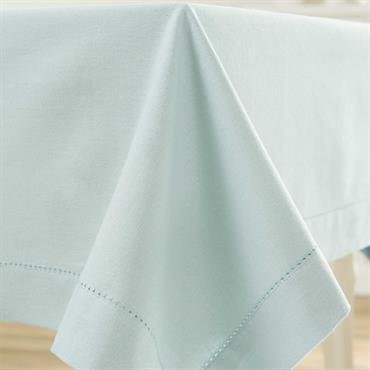 Nappe unie en coton bleue 170 x 310 cm