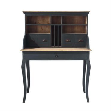 Vous avez toujours rêvé de vivre dans un château ? Avec le meuble secrétaire noir Chenonceau vos rêves deviennent réalité. Ce secrétaire en bois vieilli est un mobilier de bureau ...
