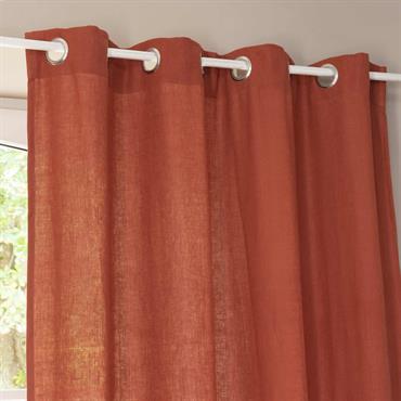 Osez la couleur avec ce rideau à œillets en lin lavé rouge cayenne, idéal pour réveiller votre décoration. Ce rideau rouge apportera de l'élégance à votre intérieur tout en étant ...