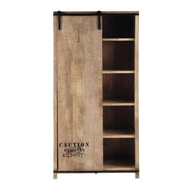 Sobre et épuré, ce dressing en bois vous offrira les rangements nécessaires pour votre chambre. Avec sa porte coulissante, vous pourrez facilement passer du côté penderie aux 4 étagères fixes. ...