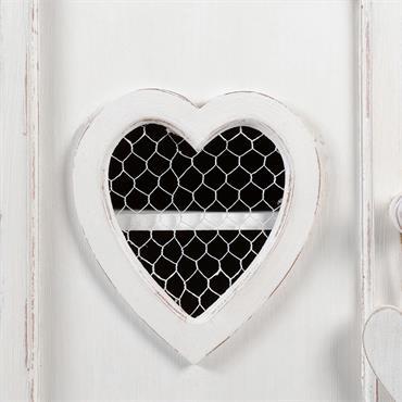 Table de chevet avec tiroir en bois blanc L 40 cm Valentine
