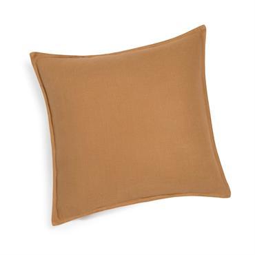 Coussin en lin lavé orange renard 45 x 45 cm