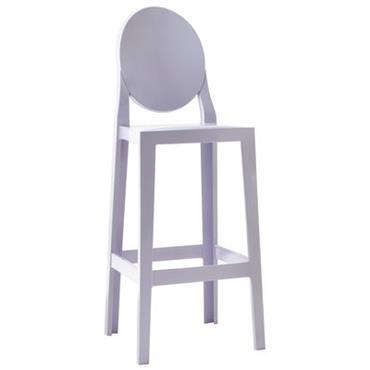 Chaise de bar One more / H 75cm - Plastique - Kartell