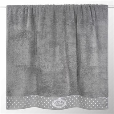 Drap de bain en coton grise 100x150 PARIS