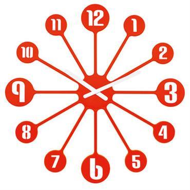 Horloge murale Pinball / Ø 45 cm - Koziol rouge tangerine