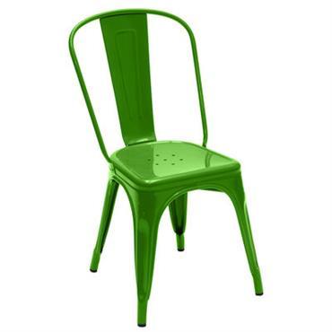 Chaise empilable A / Acier - Couleur brillante - Tolix vert brillant