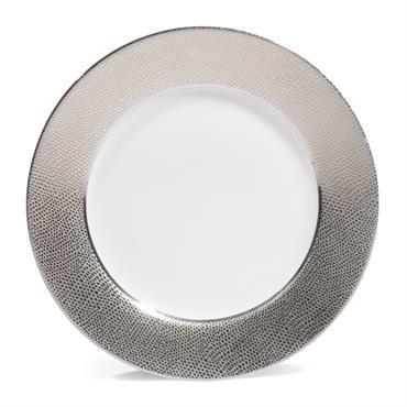 Assiette à dessert en porcelaine argent D 21 cm ÉCAILLE SAUVAGE