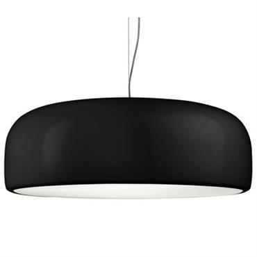 Suspension Flos design Noir en Métal. Dimensions : Ø 60 cm x H 21,5 cm - Câble : L 400 cm max.. Smithfield est la nouvelle suspension imaginée par le ...