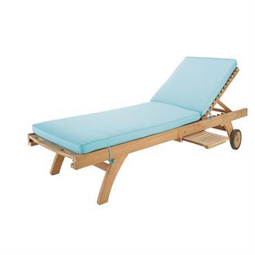 Craquez pour le coloris frais et estivale du matelas pour bain de soleil turquoise OLERON ! Il épouse parfaitement les formes du bain de soleil OLERON et vous assure un ...
