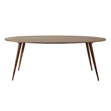 Table à manger ovale en sheesham massif 6/8 personnes L200 Andersen