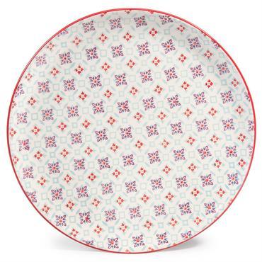 Assiette plate en faïence COCOTTE