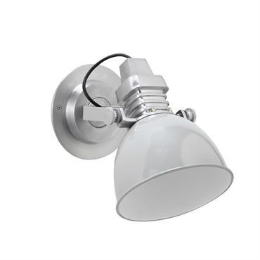 Applique spot orientable en métal effet chrome H 27 cm CALGARY