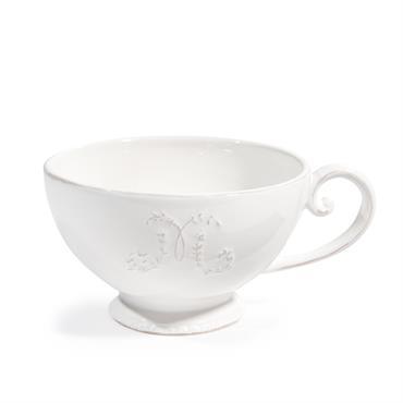 Tasse à thé en faïence blanche BOURGEOISIE