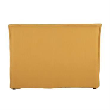 Pour une note de gaieté dans votre chambre, osez le jaune de cette tête de lit en 100% lin lavé. Facile à installer, cette housse de tête de lit s'adaptera ...