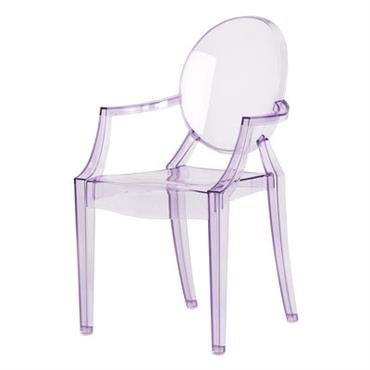 Fauteuil enfant Lou Lou Ghost - Kartell violet transparent en matière plastique
