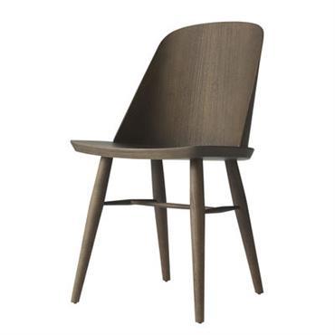 Chaise Menu Design Frêne teinté brun Bois L 47,5 x Prof 48,5 x H 80 cm - Assise : H 45 cm Une superbe chaise contemporaine et légère, au style ...