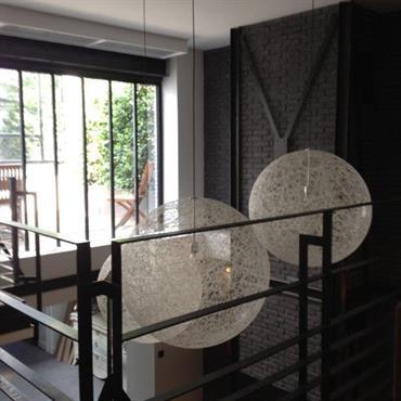 Mezzanine moderne en métal noir