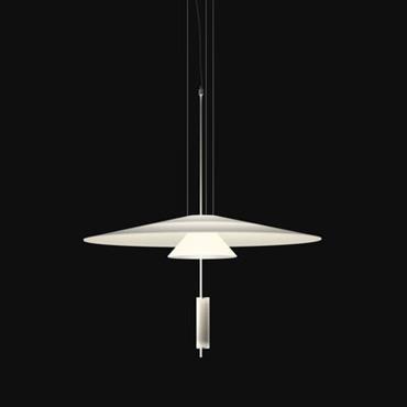 Suspension Flamingo LED / Ø 70 cm - Vibia Blanc en Matière plastique