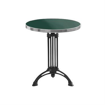 Table de bistrot émaillée