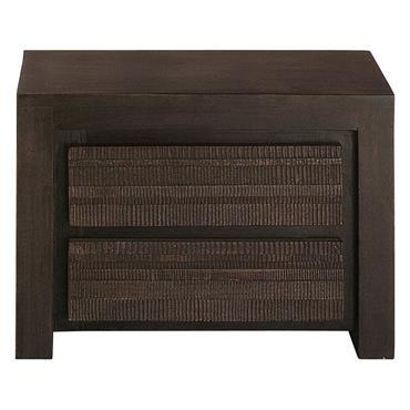 Pour compléter votre déco de chambre exotique, optez pour la table de chevet 2 tiroirs en manguier massif JAVA . Avec son design sobre et sa structure en bois teinté, ...