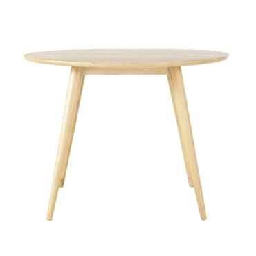 Avec son bois blond lumineux, cette table ronde NORWAY créera une ambiance chaleureuse dans votre salle à manger ou votre cuisine. Clin d'œil au design fifties, cette table en bois ...