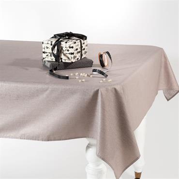 Nappe taupe pailleté 140 x 250 cm ÉTINCELLE