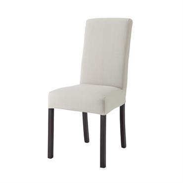 Housse de chaise en coton gris clair 47x57 Margaux