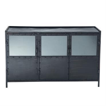 Le buffet EDISON est un meuble métallique contemporain. Idéal comme vaisselier, il vous permet de tout ranger avec ses 3 portes en fer. Un buffet bahut au look industriel et ...