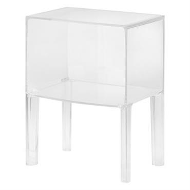 Table de chevet Small Ghost Buster - Kartell cristal en matière plastique