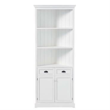 Vous recherchez une étagère en bois moderne et raffinée ? L'étagère en bois blanc Newport est un meuble d'angle plein de charme. Cette étagère d'angle, style bord de mer, vous ...