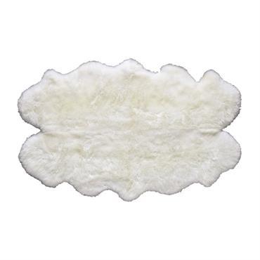 Tapis en peau de mouton ivoire 110 x 180 cm