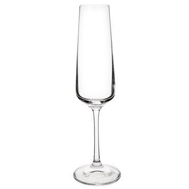 Flûte à champagne en verre NAOMIE