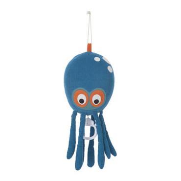 Mobile musical Octopus - Ferm Living bleu en tissu