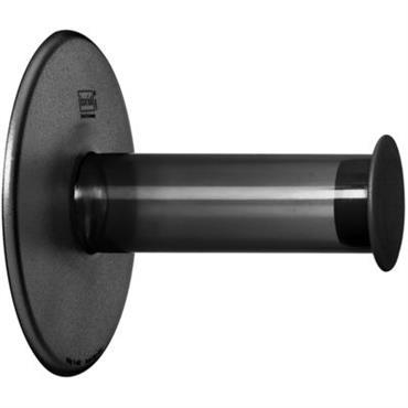Dérouleur de papier toilette Plug´N Roll - Koziol anthracite transparent en matière plastique