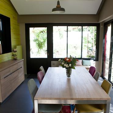 Salle à manger originale et colorée