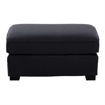 Pouf de canapé modulable en tissu Monet gris anthracite Milano