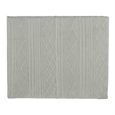Tête de lit 140 en tissu tricoté blanche Tricot