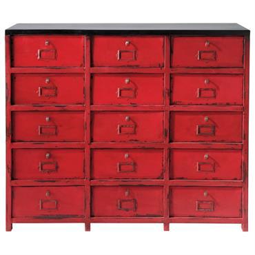 Cabinet de rangement en métal rouge L 115 cm Vermillon