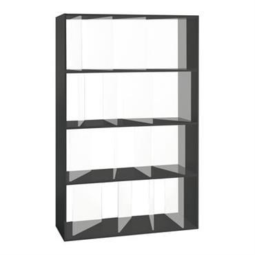 Bibliothèque Sundial L 100 x H 165 cm - Kartell noir