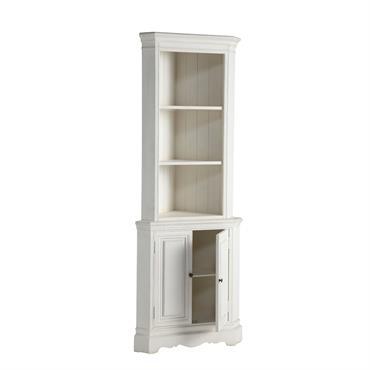 L' étagère d'angle en bois blanc JOSEPHINE constitue un meuble de rangement et d'exposition raffiné. Avec ses 2 étagères et ses 2 portes, cette étagère bois blanc accueillera tous vos ...